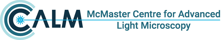 Logo for McMaster Centre for Advanced Light Microscopy (CALM)